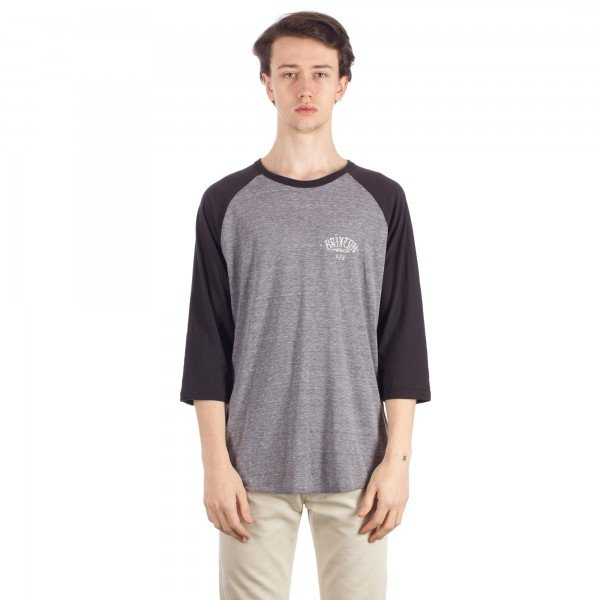 Brixton Borrego 3/4 Sleeve T-Shirt (Heather Grey/Black)