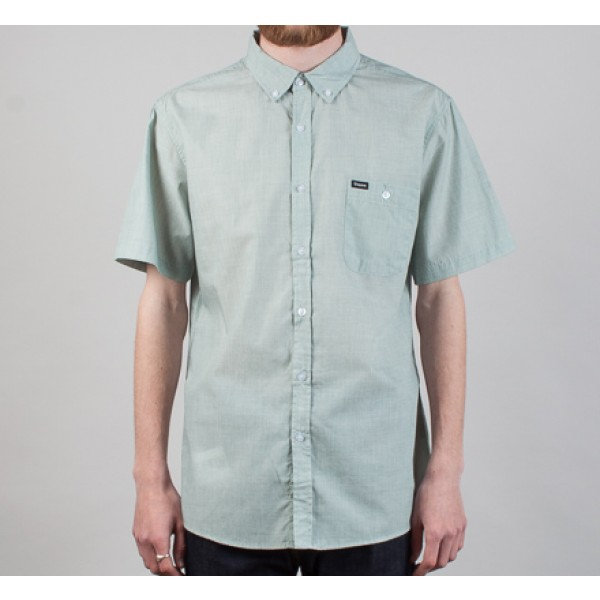 Brixton Central Short Sleeve Shirt (Mint)