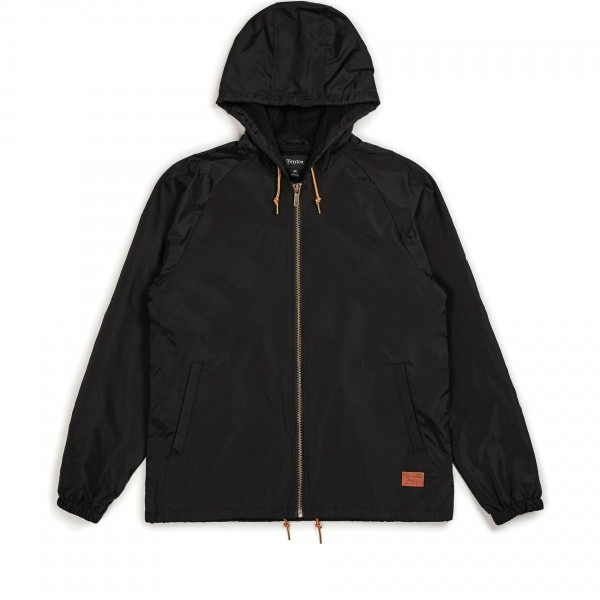 Brixton Claxton Hooded Coach Jacket (Black)