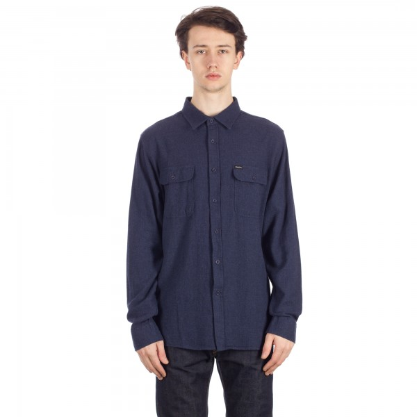 Brixton Donez Long Sleeve Flannel Shirt (Washed Navy)