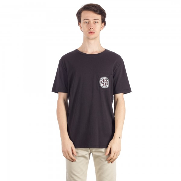 Brixton Fillmore Pocket T-Shirt (Washed Black)