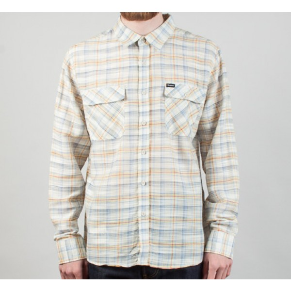 Brixton Memphis Long Sleeve Shirt (Cream)