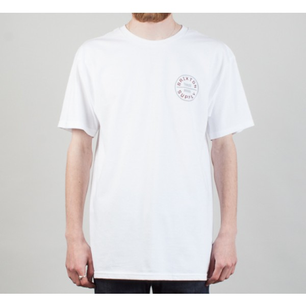 Brixton Oath T-Shirt (White/Grey)