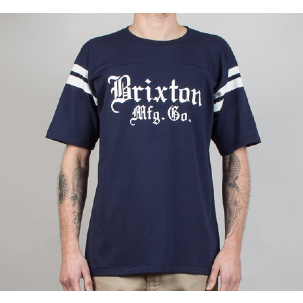 Brixton Vincent Short Sleeve Knit T-Shirt (Navy)