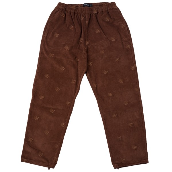 Bronze 56k All Over Embroidered Synch Corduroy Pants (Brown)