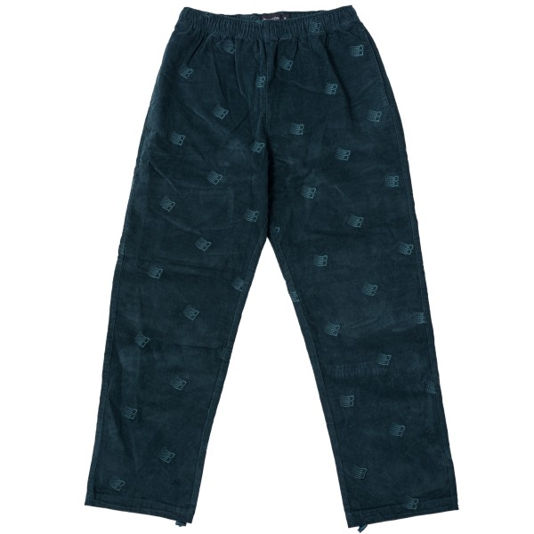 Bronze 56k All Over Embroidered Synch Corduroy Pants (Dark Teal)