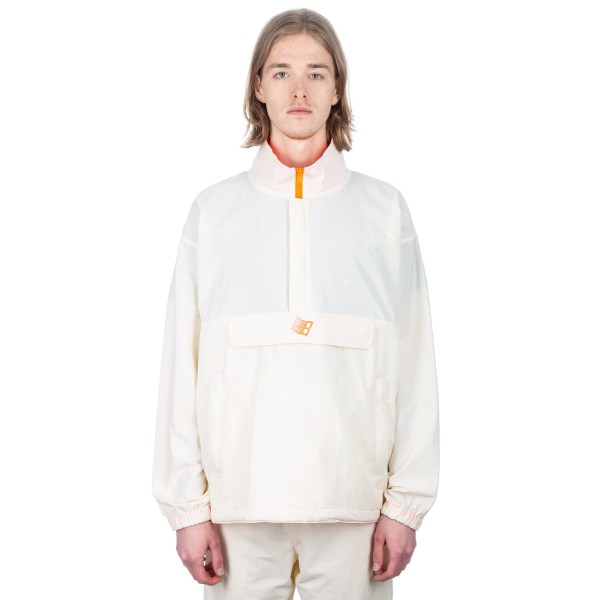 Bronze 56k Half-Zip Jacket (Off White/Neon Orange)