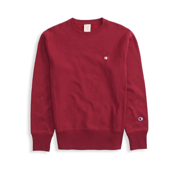 Champion Reverse Weave Crew Neck Sweatshirt (Burgundy)