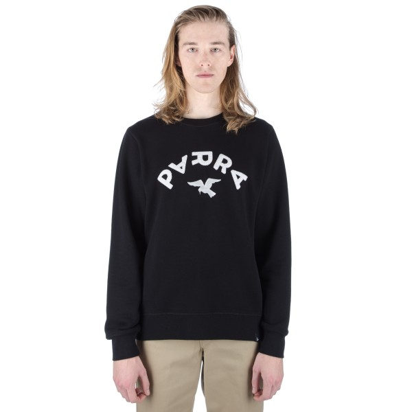 by Parra Arch & Bird Crew Neck Sweatshirt (Black)