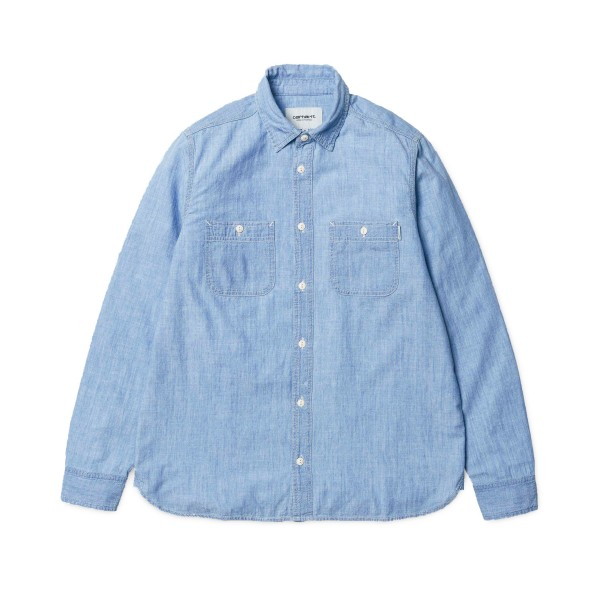 Cahartt Clink Stone Bleached Long Sleeve Shirt (Blue)