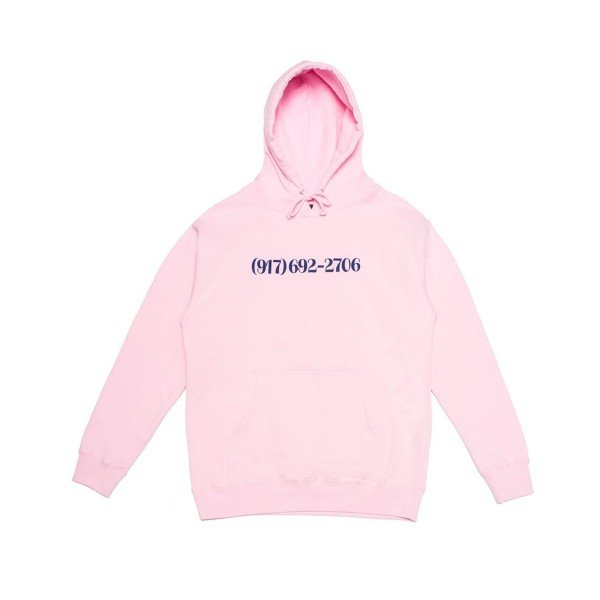 Call Me 917 Dialtone Pullover Hooded Sweatshirt (Pink)