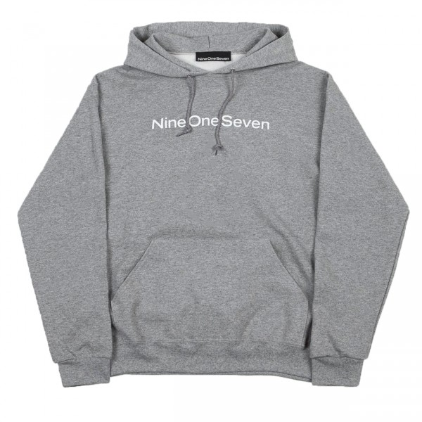Call Me 917 Logotype Pullover Hooded Sweatshirt (Heather Grey)