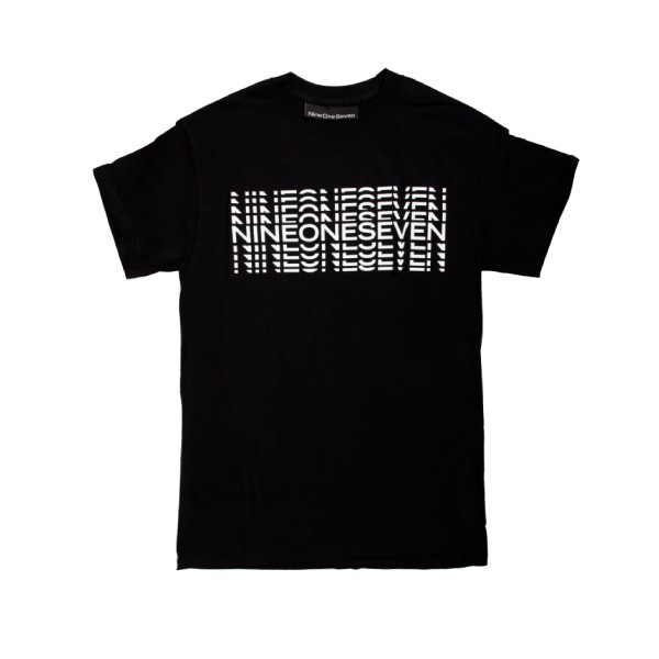 Call Me 917 Typography T-Shirt (Black)
