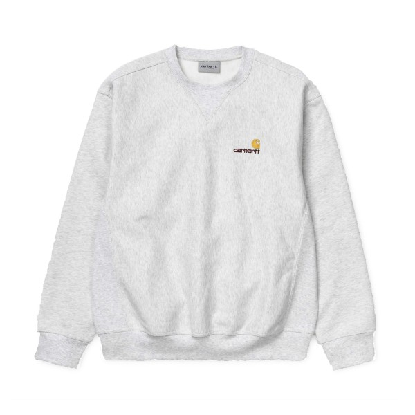 Carhartt American Script Crew Neck Sweatshirt (Ash Heather)