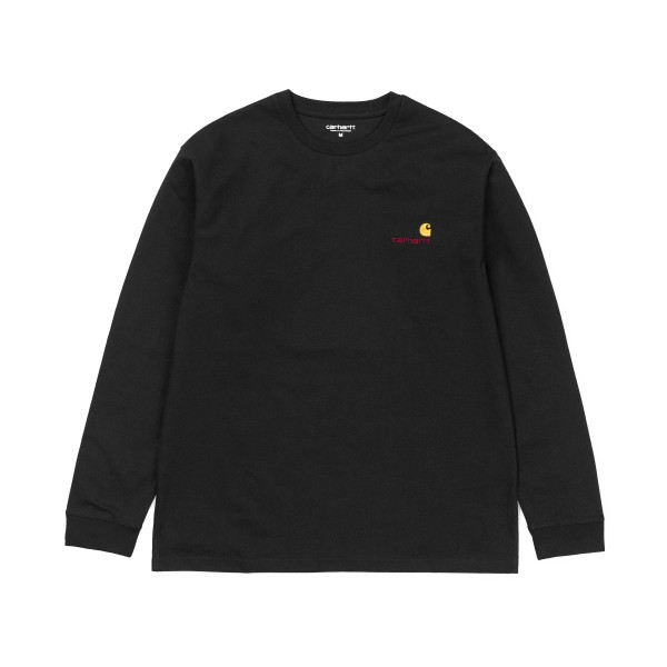 Carhartt American Script Long Sleeve T-Shirt (Black)
