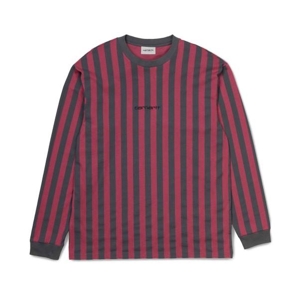 Carhartt Barnett Long Sleeve T-Shirt (Blacksmith/Dusty Fuchsia)