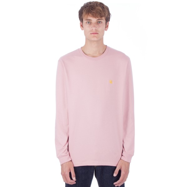 Carhartt Chase Long Sleeve T-Shirt (Soft Rose/Gold)