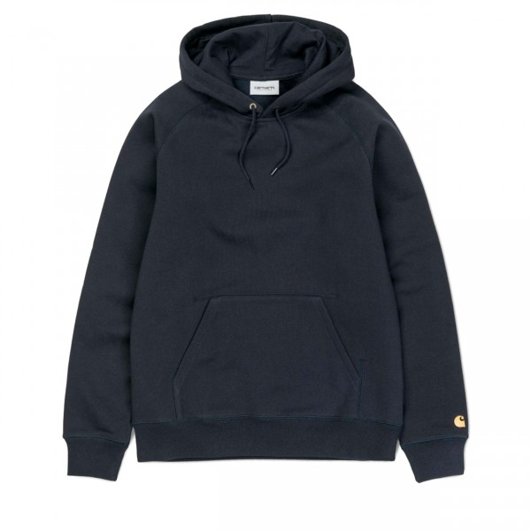 Carhartt Chase Pullover Hooded Sweatshirt (Dark Navy/Gold)