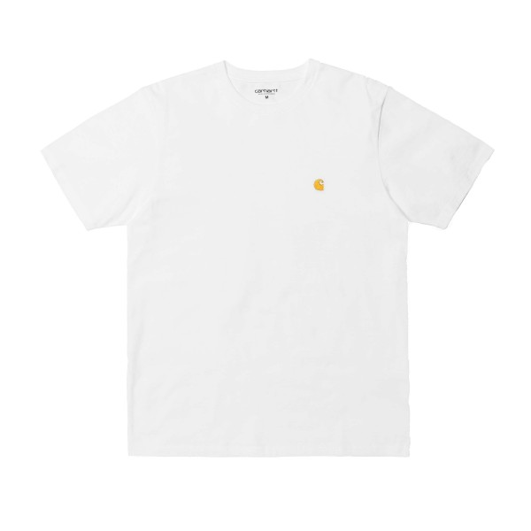 Carhartt Chase T-Shirt (White/Gold)