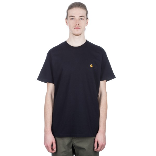 Carhartt Chase T-Shirt (Dark Navy/Gold)