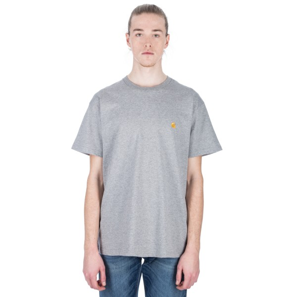 Carhartt Chase T-Shirt (Grey Heather/Gold)