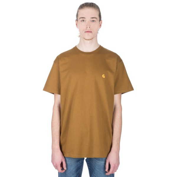 Carhartt Chase T-Shirt (Hamilton Brown/Gold)