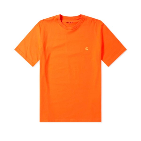 Carhartt Chase T-Shirt (Pepper/Gold)