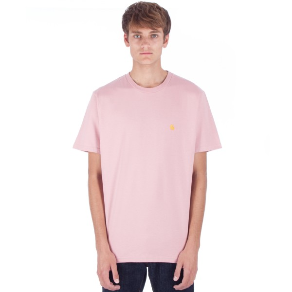 Carhartt Chase T-Shirt (Soft Rose/Gold)