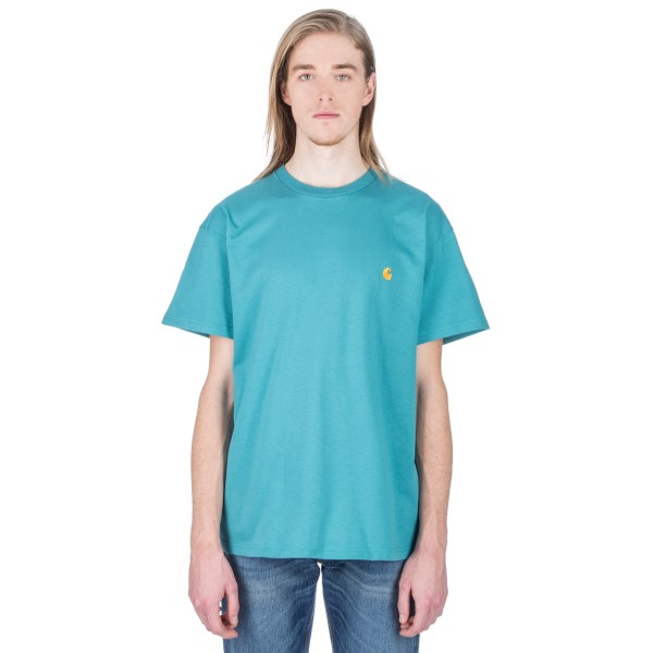 Carhartt Chase T-Shirt (Soft Teal/Gold)
