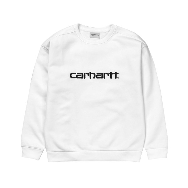 Carhartt Crew Neck Sweatshirt (White/Black)
