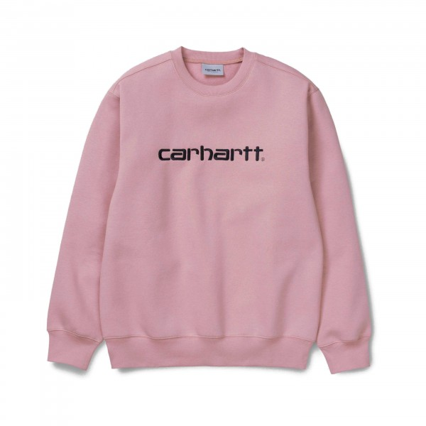 Carhartt Crew Neck Sweatshirt (Blush/Black)