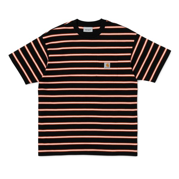 Carhartt Houston Pocket T-Shirt (Houston Stripe, Black)