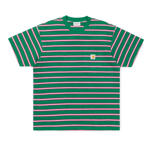 Carhartt Houston Pocket T-Shirt (Houston Stripe, Dragon)