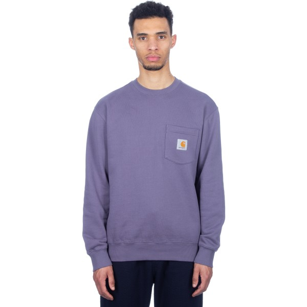 Carhartt Pocket Crew Neck Sweatshirt (Decent Purple)