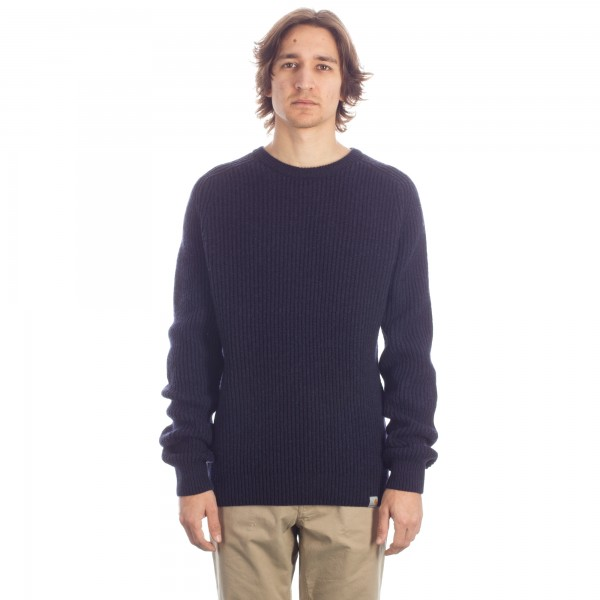 Carhartt Rib Knitted Sweatshirt (Dark Navy Heather)