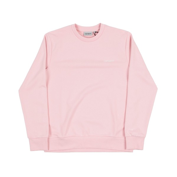 Carhartt Script Embroidery Crew Neck Sweatshirt (Sandy Rose/Wax)