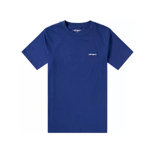 Carhartt Script Embroidery T-Shirt (Metro Blue/White)