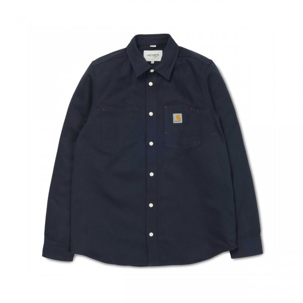 Carhartt Tony Long Sleeve Shirt (Dark Navy)