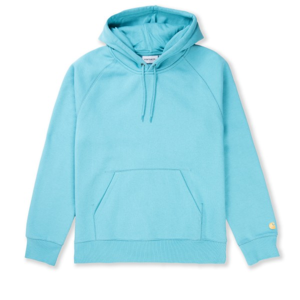 Carhartt WIP Chase Pullover Hooded Sweatshirt (Frosted Turquoise/Gold)