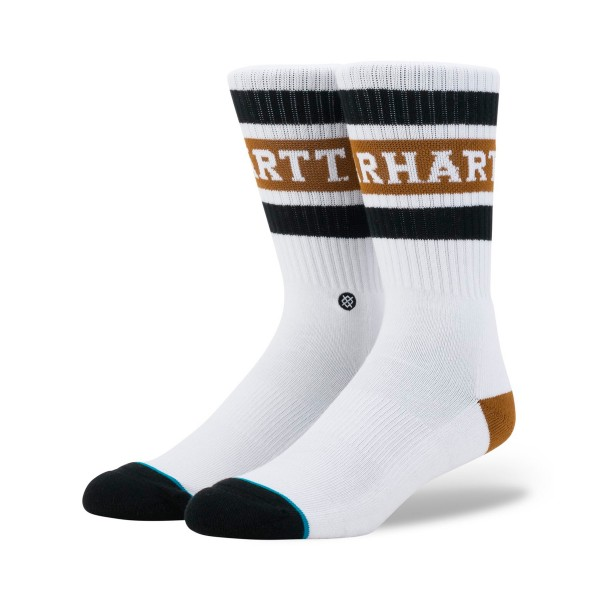 Carhartt WIP x Stance Strike Socks (White/Black/Hamilton Brown)