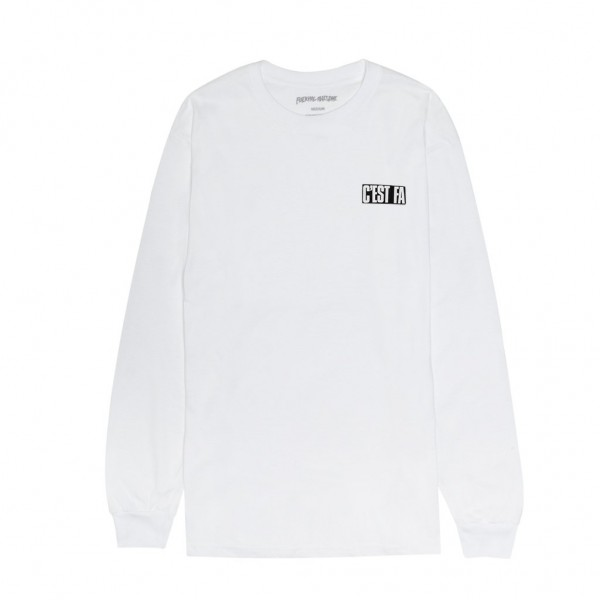 Fucking Awesome C'EST FA Long Sleeve T-Shirt (White)