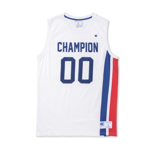 Champion Reverse Weave Basketball Jersey (White/Blue/Red)