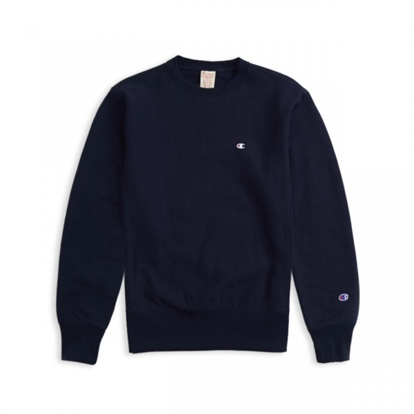 Champion Reverse Weave Crew Neck Sweatshirt (Navy)