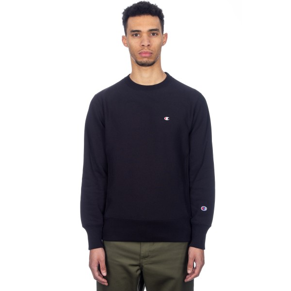 Champion Reverse Weave Crew Neck Sweatshirt (Black)