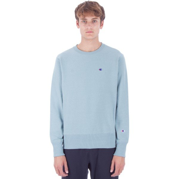 Champion Reverse Weave Crew Neck Sweatshirt (Blue)