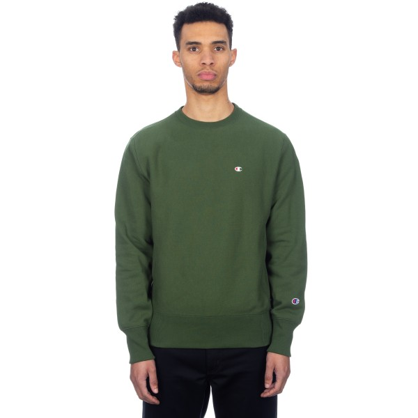 Champion Reverse Weave Crew Neck Sweatshirt (Forest Green)