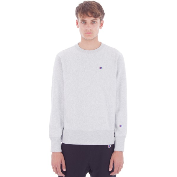 Champion Reverse Weave Crew Neck Sweatshirt (Light Oxford Grey)