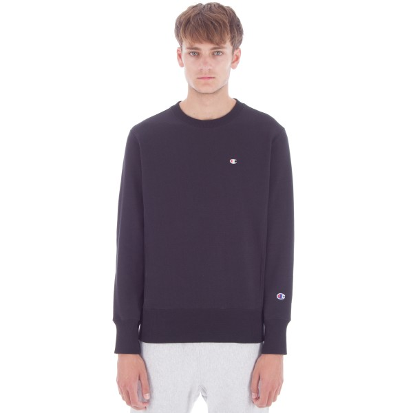 Champion Reverse Weave Crew Neck Sweatshirt (New Black)