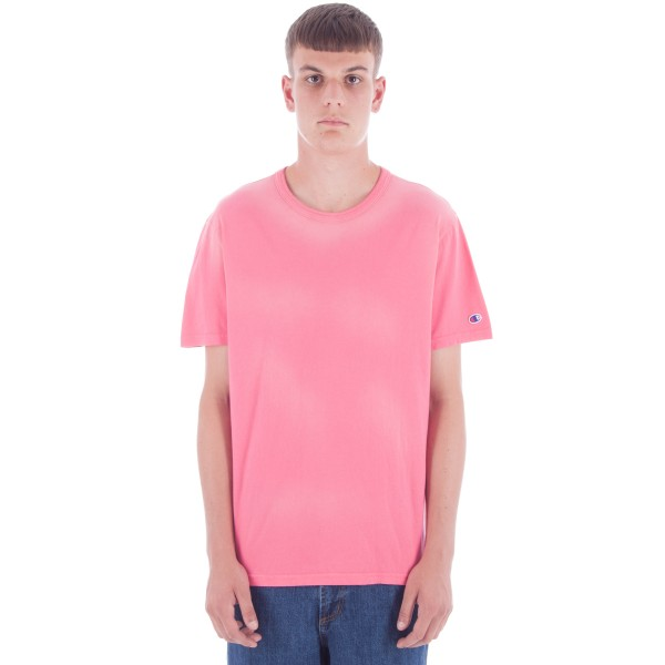 Champion Reverse Weave Crew Neck T-Shirt (Pink)