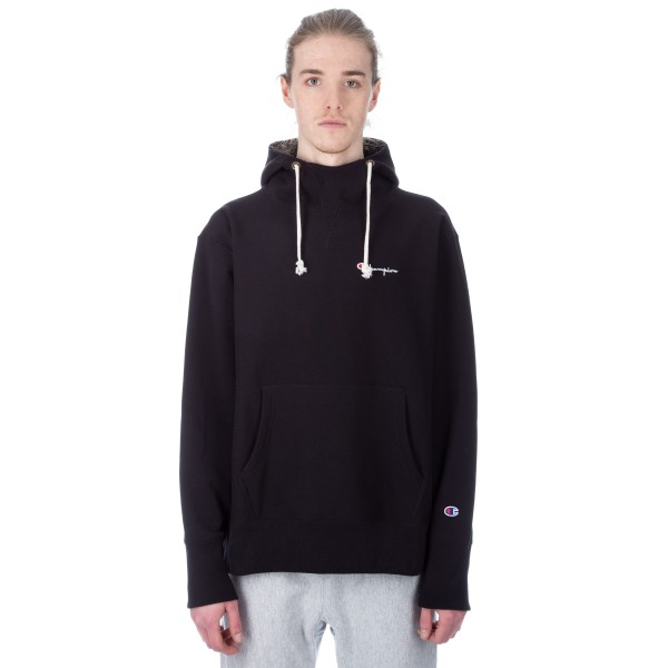 Champion Reverse Weave Deconstructed Pullover Hooded Sweatshirt (New Black)